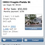 Zillow on the iPhoe: a property listing