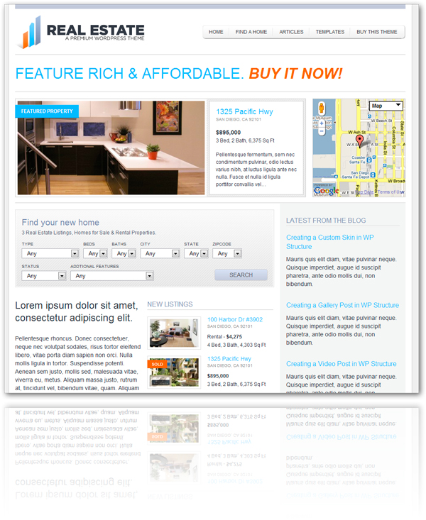 WP Pro Real Estate 2 WordPress Theme by contempoinc